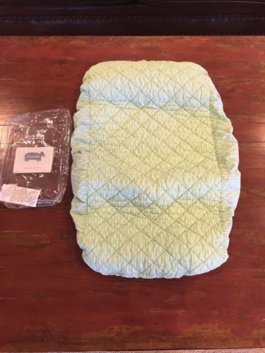 Land Of Nod Changing Pad, Green Pattern, EUC, Retail $35