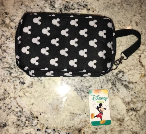 Disney Baby Mickey Mouse Deluxe Diaper Shuttle Carry Bag Clutch & Changing Pad