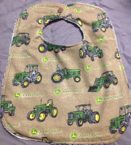 John Deere Tractors Large Baby Toddler Drool Bib Wash