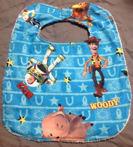 Toy Story Woody Buzz Lightyear Jessie Slinky Large Baby Toddler Drool Bib Wash
