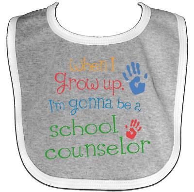 Inktastic School Counselor Future Baby Bib Cute Handprints Handprint Occupation