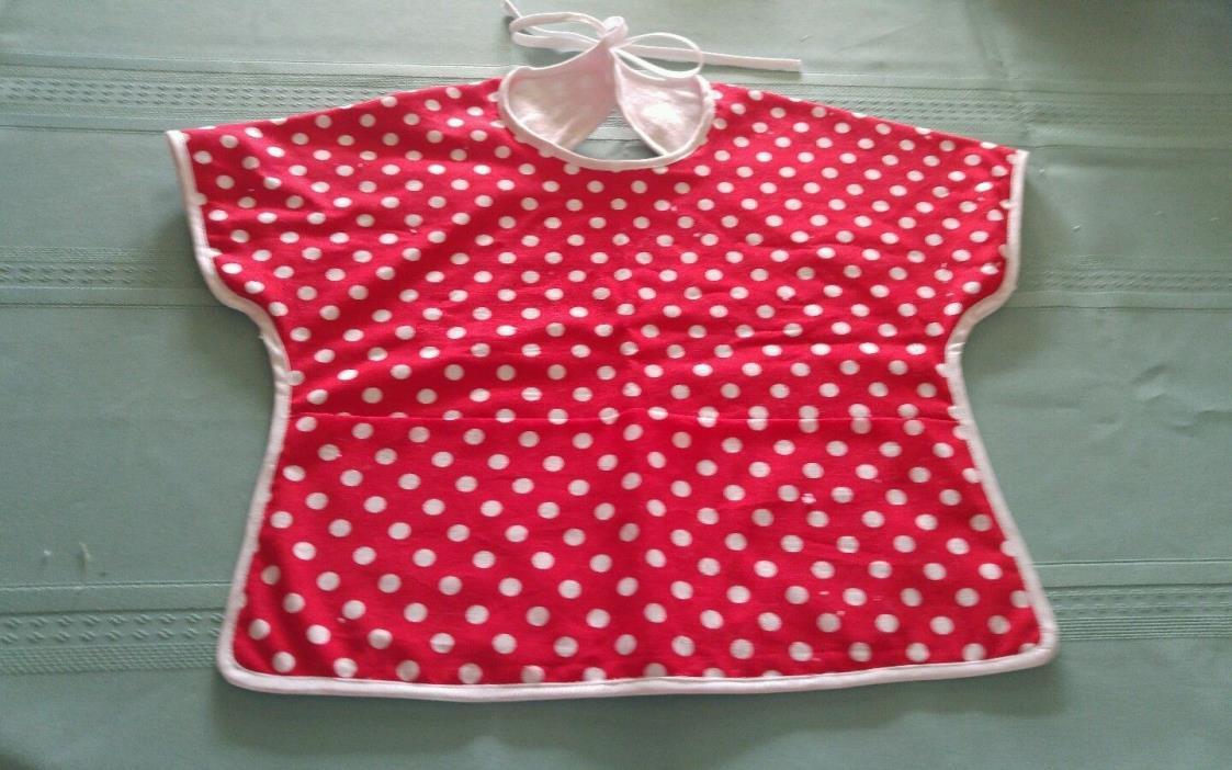 Shirt Baby Bib        Tie Close           Pocket At Bottom           Home Made