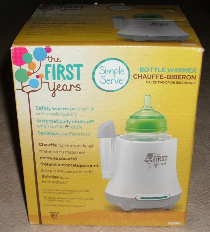 The First Years Baby Bottle Warmer Safely Warms Breastmilk and Formula Free Ship