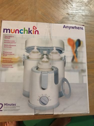 NEW Munchkin Anywhere Day and Night Bottle Warmer & Cooler Warm Feed Sleep