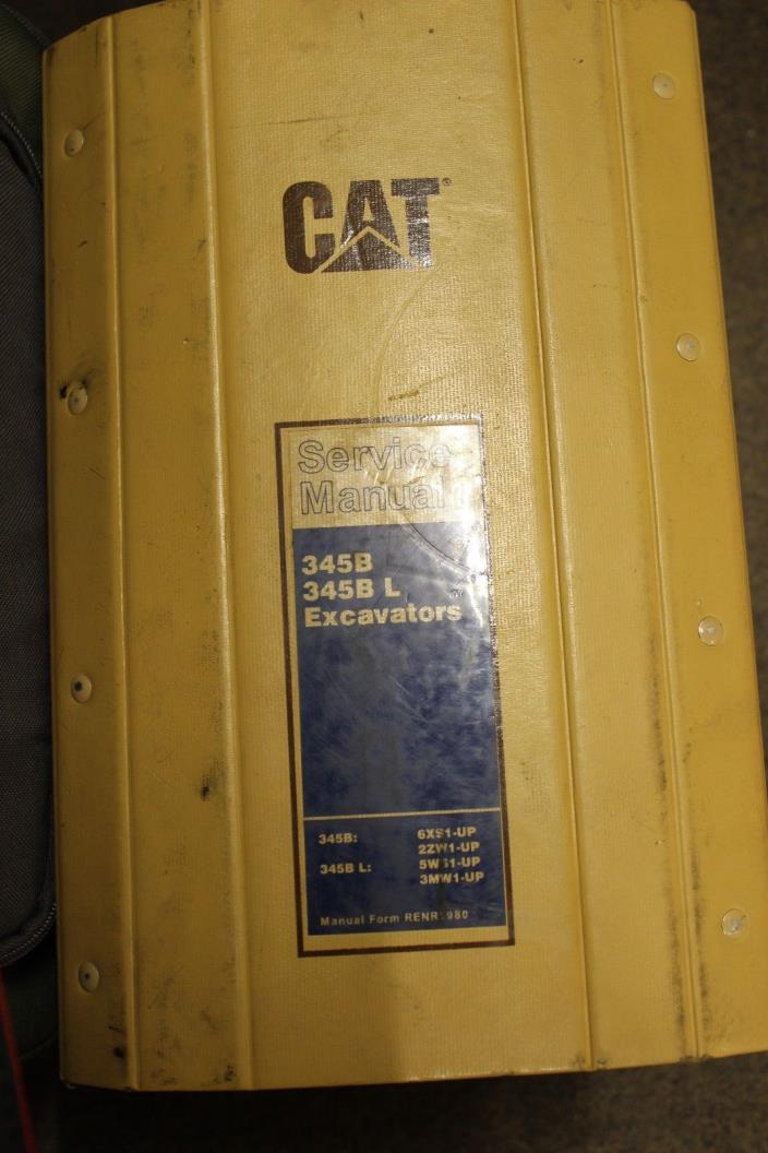 Caterpillar 345BL Service Manual and Parts Manual