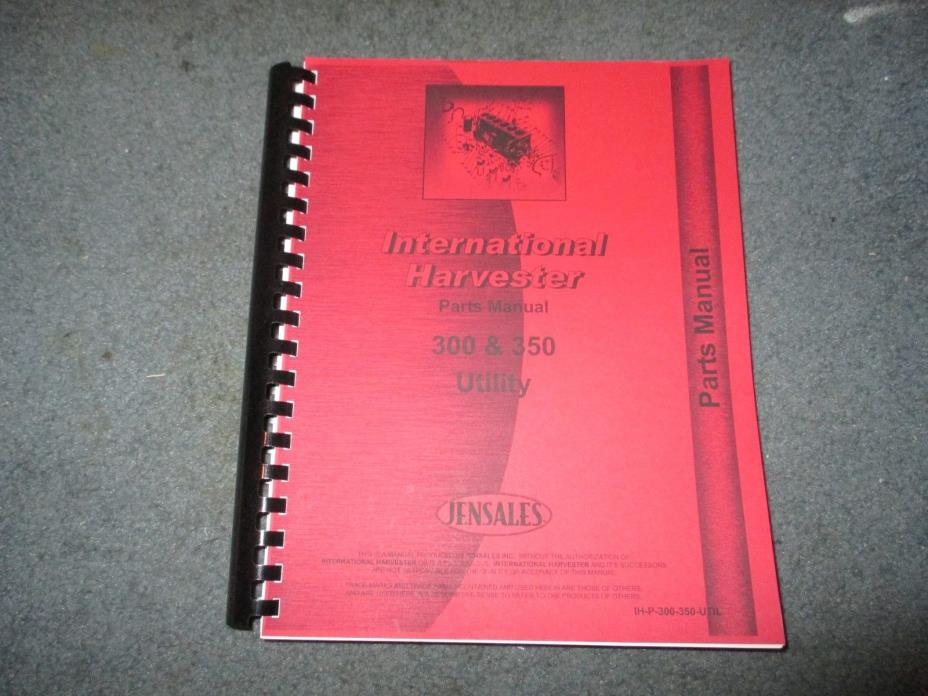 International Farmall 300 350 Utility Jensales Parts Manual ID-P-300-350-UTIL