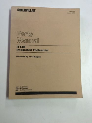 CAT CATERPILLAR IT14B INTEGRATED TOOLCARRIER PARTS BOOK MANUAL S/N 3NJ1-UP
