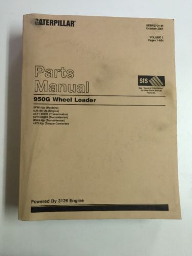 PARTS MANUAL FOR 950G CATERPILLAR  WHEEL LOADER VOLUME 1&2