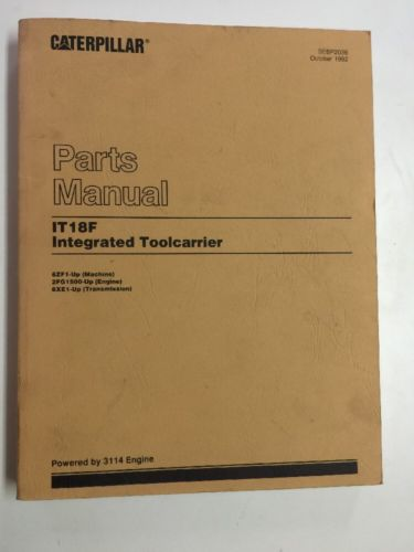 CAT Caterpillar IT18F Integrated Toolcarrier Parts Manual SEBP2036