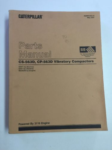CAT CATERPILLAR CS-563D CP-563D VIBRATING COMPACTOR PARTS BOOK MANUAL SN 9MW 9ZW