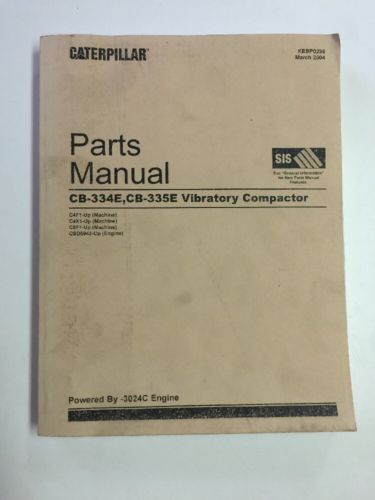 CAT CATERPILLAR CB-334E CB-335E VIBRATORY COMPACTOR PART BOOK MANUAL C4F C4X C5F