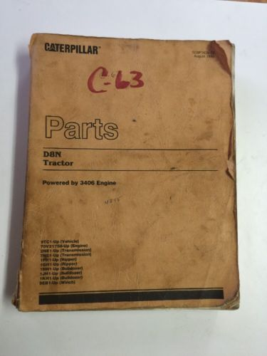 Caterpillar CAT D8N Tractor Parts Manual  9TC  SEBP1626-02
