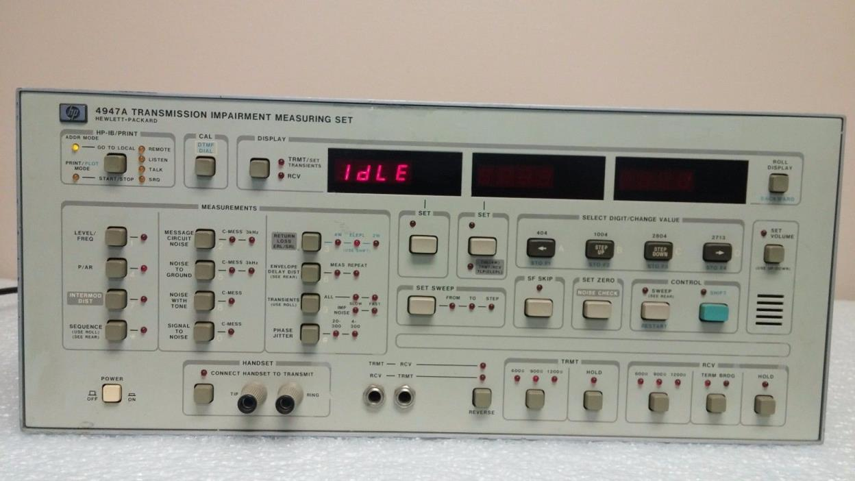 HP 4947A Transmission Impairment Measuring Set