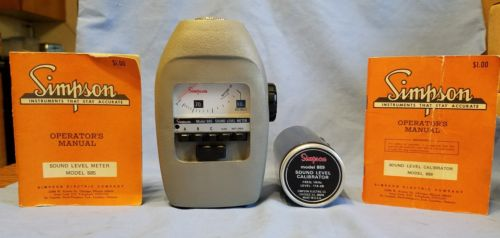 SIMPSON MODEL 885 SOUND LEVEL METER & MODEL 889 SOUND LEVEL CALIBRATOR