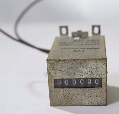 ITT Controls 6 Digit Electrical Event Counter, No Reset 120V AC 60 HZ Steampunk
