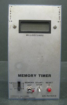 VPI Physics Milliseconds (ms) Memory Timer