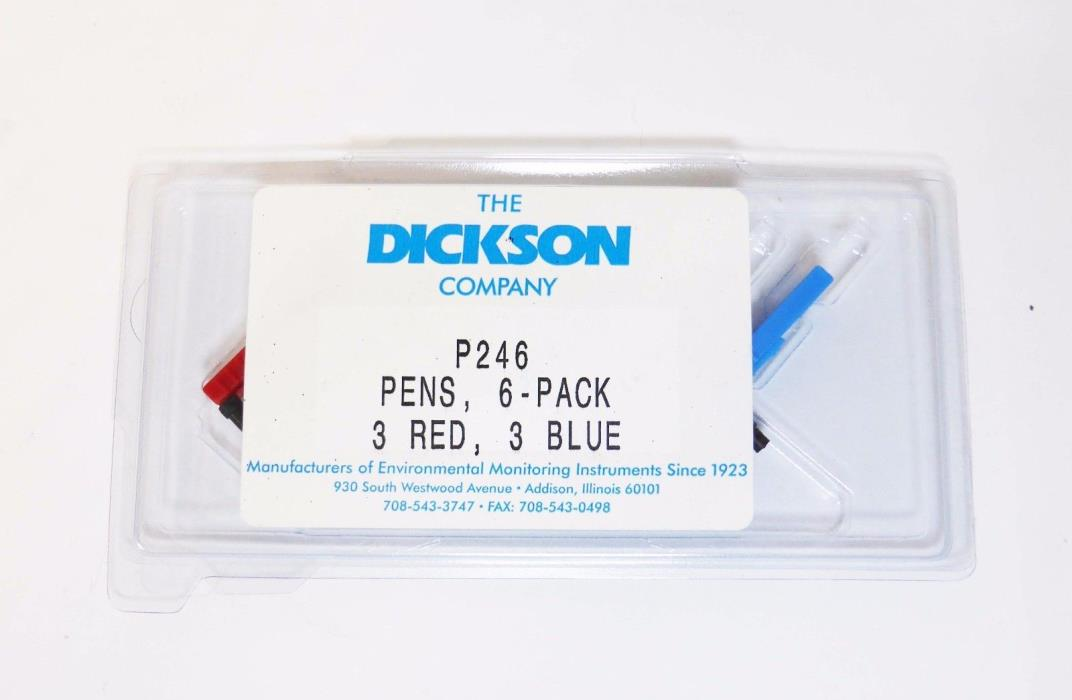 DICKSON Replacement Pen Kit, 3 Red, 3 Blue, P246