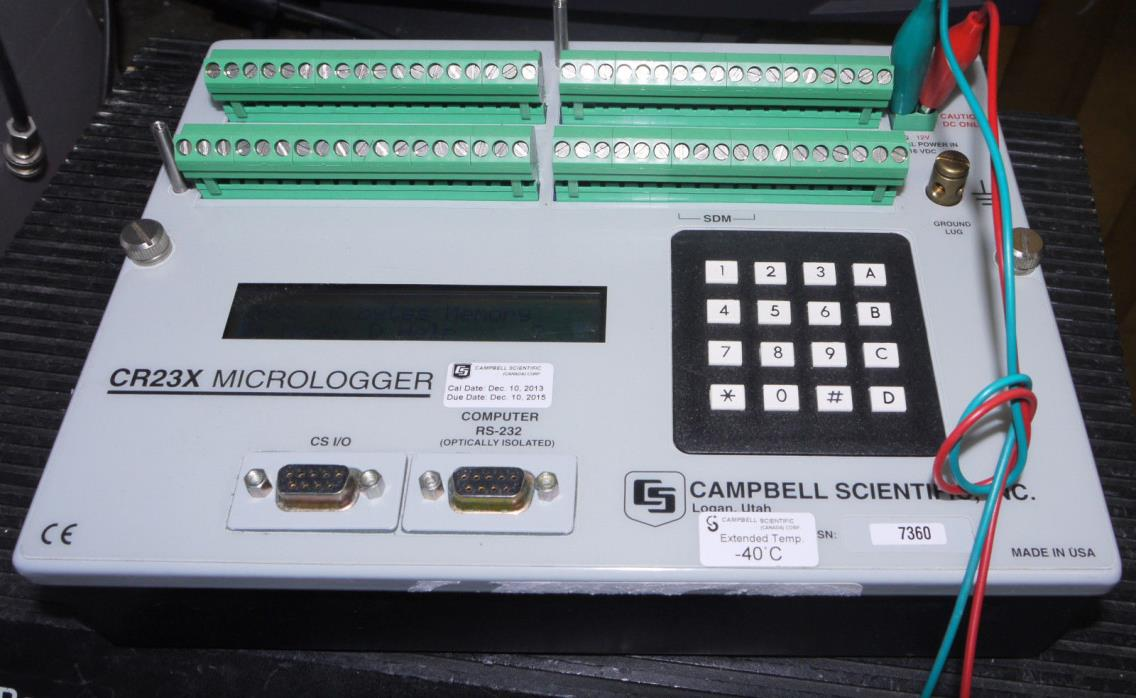 Extended Temperature Campbell Scientific CR23X Micrologger Data Logger