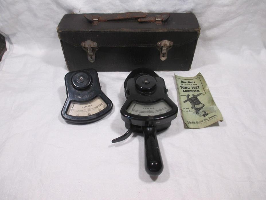 Columbia Electric Ammeter Tong Test Type AX w/Case