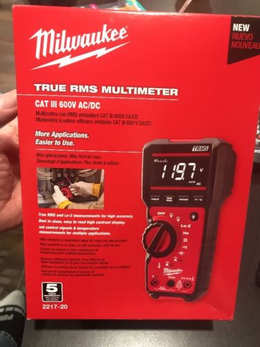 Brand New Milwaukee 2217-20 Digital Multimeter Free Shipping