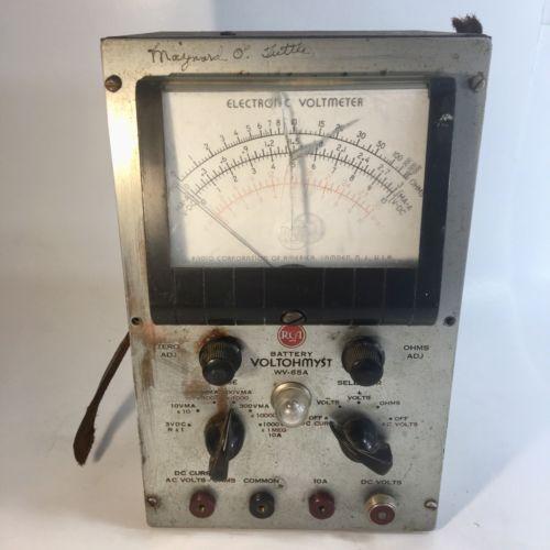 Vintage RCA Battery Voltohmyst WV-65A Electronic Voltmeter Vintage Testing Equip