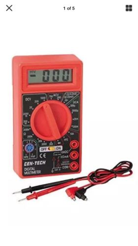 Digital Amp Ohm Volt Meter Ac Dc Voltmeter Multimeter New