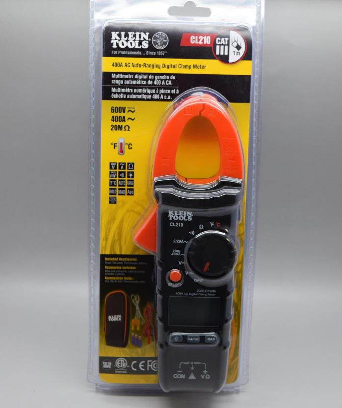 Klein Tools CL210 400 Amp AC Auto-Ranging Digital Clamp Meter
