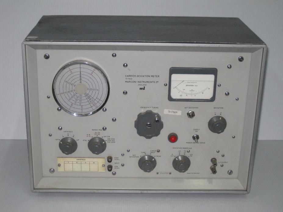 MARCONI Instruments Ltd CARRIER Deviation Meter TF79ID Vintage Test Equipment