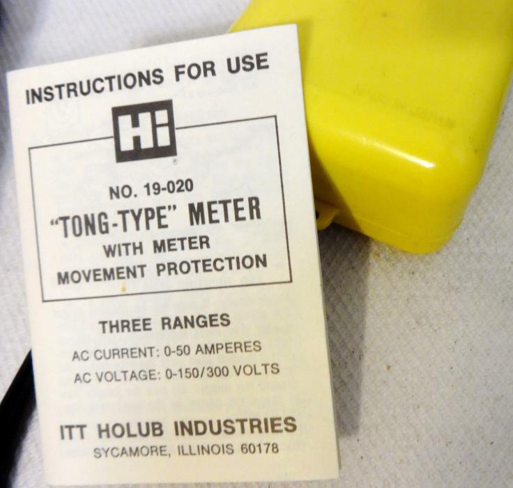 Vintage Hi ITT Holub Industrial TonType Volt Meter tested   works   instructions