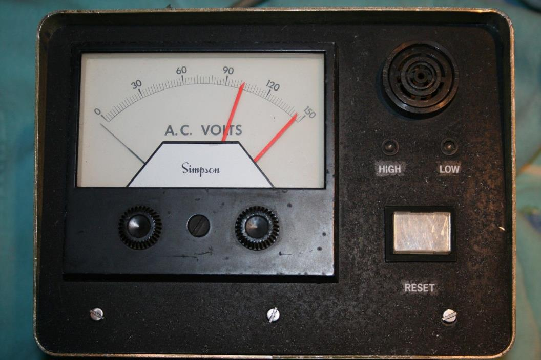 SIMPSON AC VOLTAGE MONITOR UNIT WITH ALARM