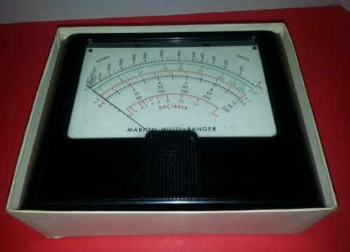 Vintage Marion Multi-Ranger Decibels Meter