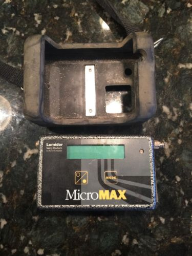 Lumidor Safety Products MicroMax Model MAX-4AP Gas Detector with Accessories