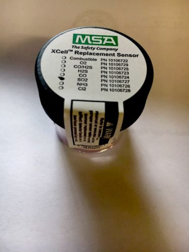 GENUINE ORIGINAL SEALED OEM MSA SAFETY XCELL REPLACEMENT SENSOR SO2 10106727
