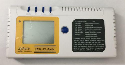 ZyAura DESKTOP CO2 CARBON DIOXIDE MONITOR ZG106