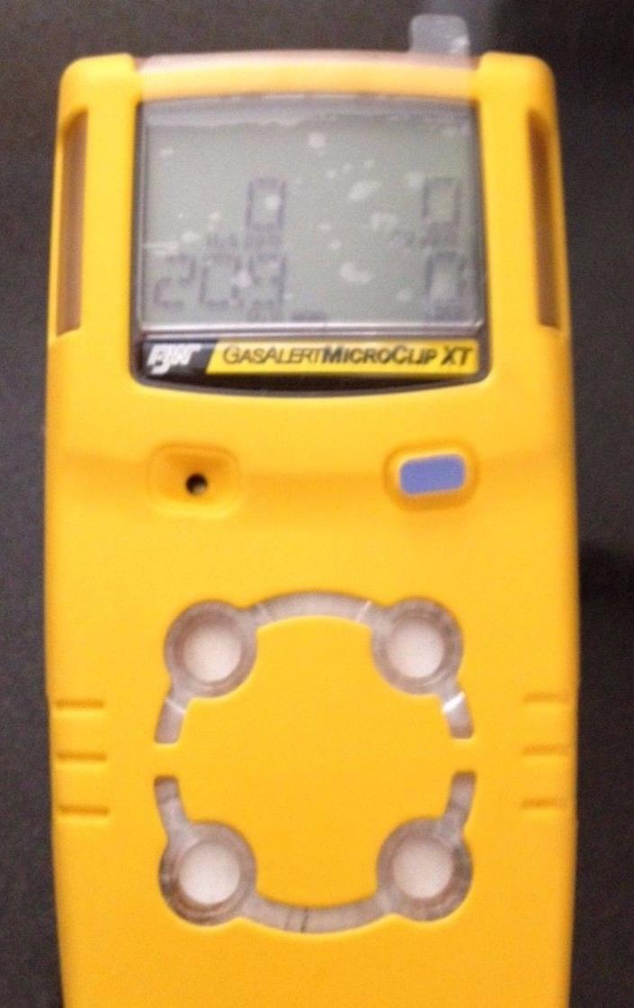 BW Technologies GAS monitor MICROCLIP XT 4-GAS MC2-XWHM-Y-NA  new oxygen,cal'd