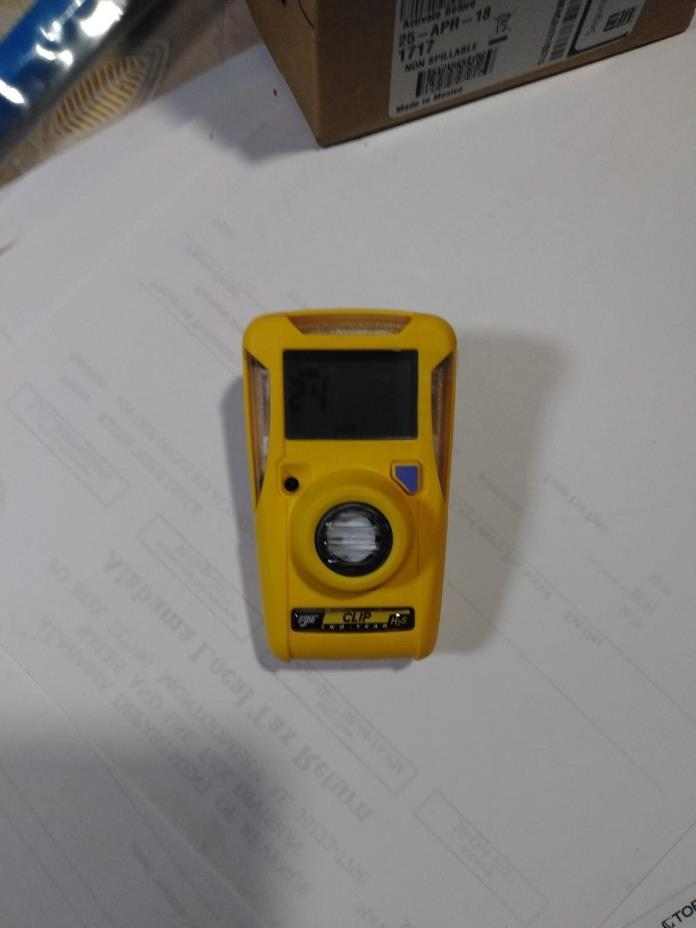 BW Technologies- BWC2-H GasAlertClip Gas Monitor Extreme Hydrogen Sulfide (H2S)