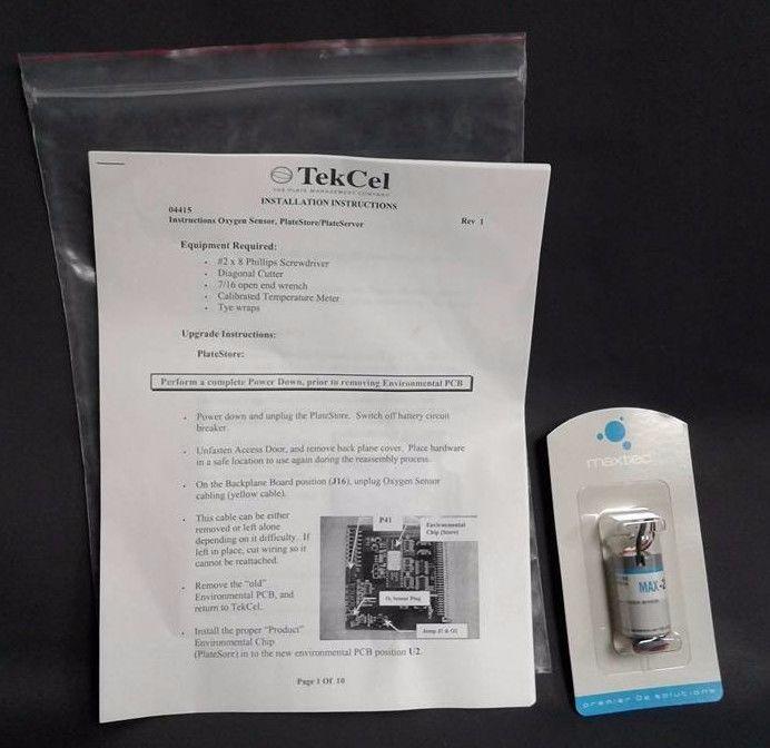 Maxtec Oxygen Sensor Max-250 R125P01-003 Internal Industrial Oxygen Sensor