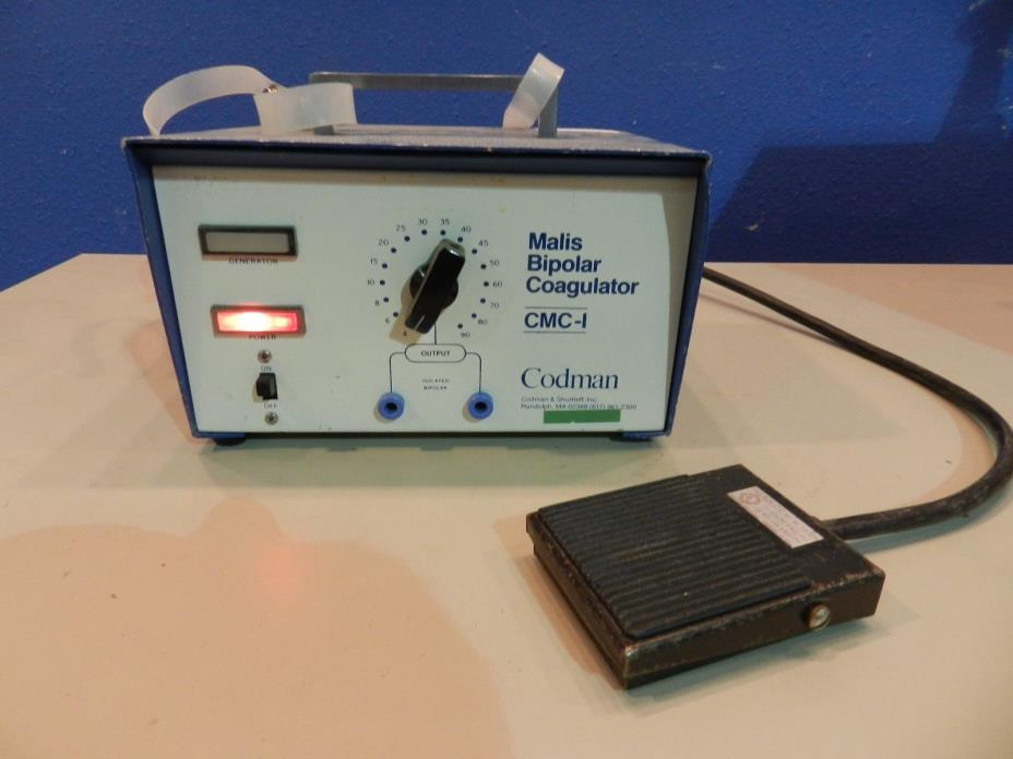 Codman Mails CMC-1 Bipolar Coagulator NS 237 with Foot Pedal