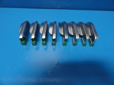 8 x Welch Allyn 69063 MAC 3 (Macintosh ) Fiber-Optic Laryngoscope Blades ~13956