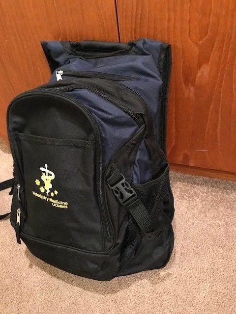 NEW UC DAVIS Veterinary Back Pack official merchandise! Hold Vet supplies / Gift