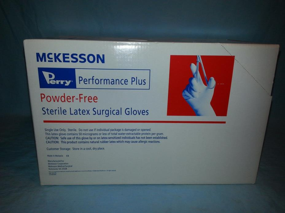 40 McKesson Perry Performance Plus PowderFree Sterile Latex Surgical Glove 6 1/2