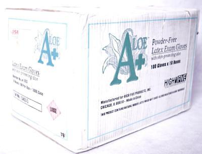 1000 Count High Five L933 Case of Exam Gloves Skin Protecting Aloe Sz Large