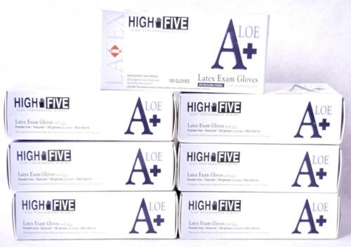 700 Count High Five L933 Exam Gloves Skin Protecting Aloe Sz Large
