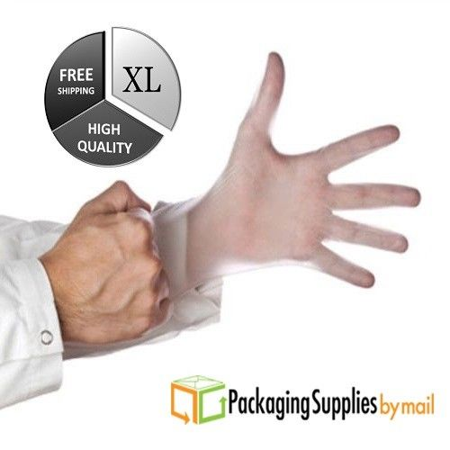 3000 Pcs Powder Free Vinyl Disposable gloves 4.5 Mil (Non Latex Nitrile) - XL
