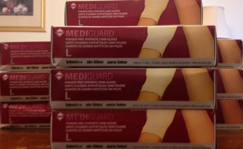 MediGuard Synth. Latex Free Exam Gloves Large 1000 Count ~ (Packs of 100) MSV603