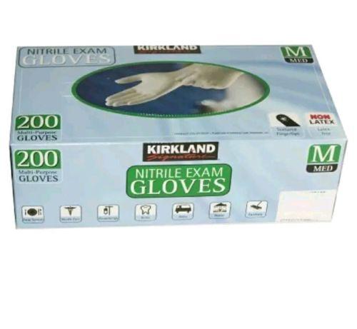 Kirkland Signature Nitrile Exam Gloves Multi-Purpose Latex Free Medium 200 ct.