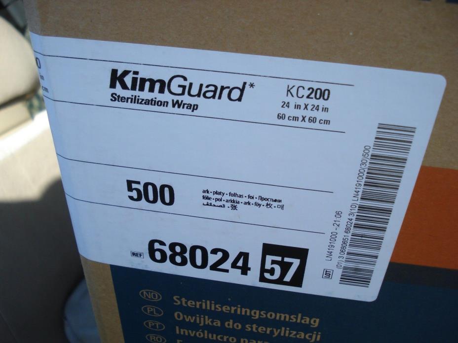 500 Case HALYARD KIMGUARD ONE-STEP KC200 STERILIZATION WRAP 68024 Bulk 24