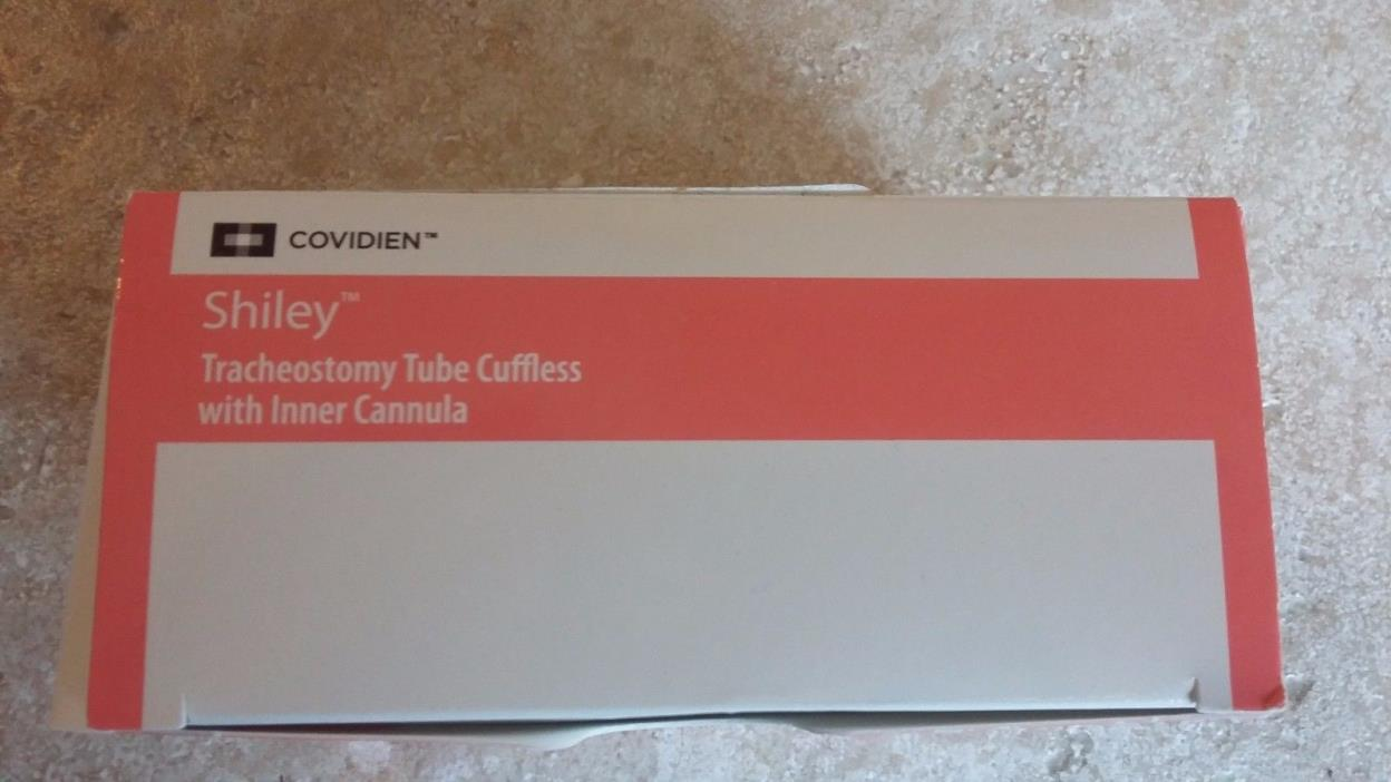 Covidien Shiley Tracheostomy Tube Cuffless w/ inner cannula 6CFS Free Shipping!!