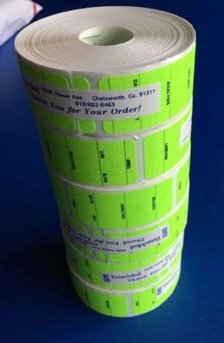 New Box/ 6 Rolls Of TIMEMED LABEL. Reagent. Analysis. Date. Init.Temp. Green.