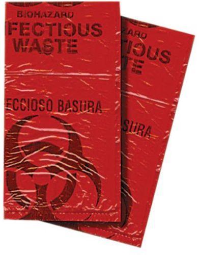 Biohazard Waste Disposable Bag, 7-10 Gallon, 50-Pack